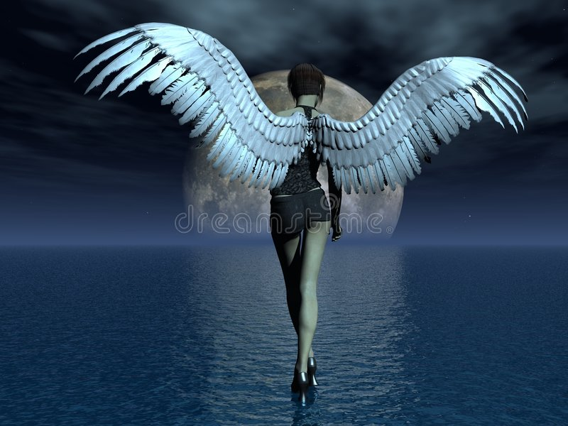 Download Girl angel stock illustration. Image of woman, darkness - 5787523
