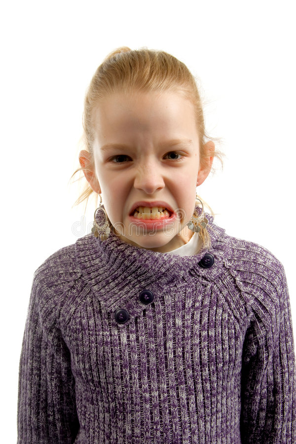Girl is angry stock images