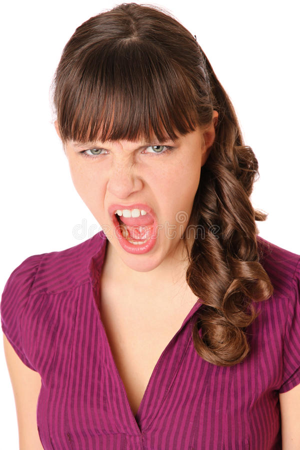 Download Girl angry and screams stock photo. Image of expression - 18536938