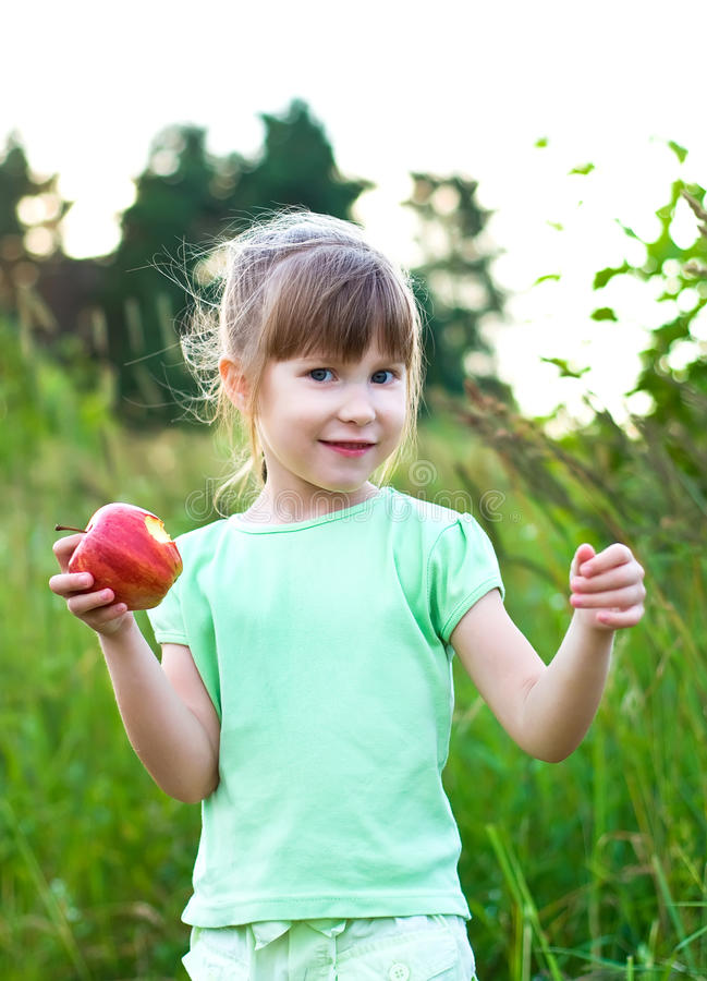 Download Girl with apple stock photo. Image of healthy, juicy - 20123610