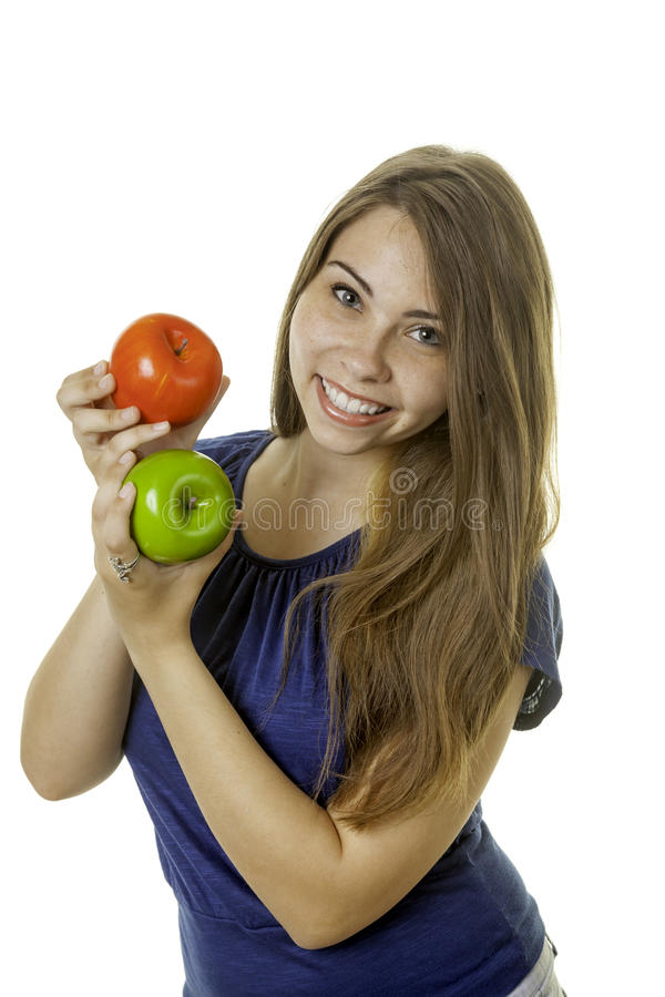 Download Girl with apples stock image. Image of fitness, healthy - 32301593