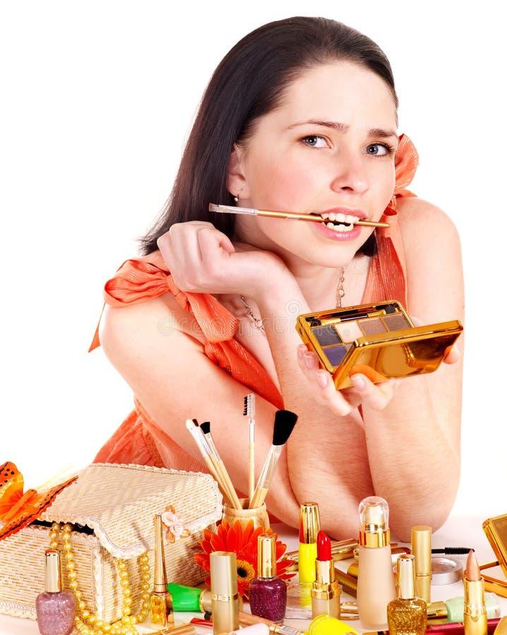 Download Girl Applying Makeup. Stock Photo - Image: 23613040