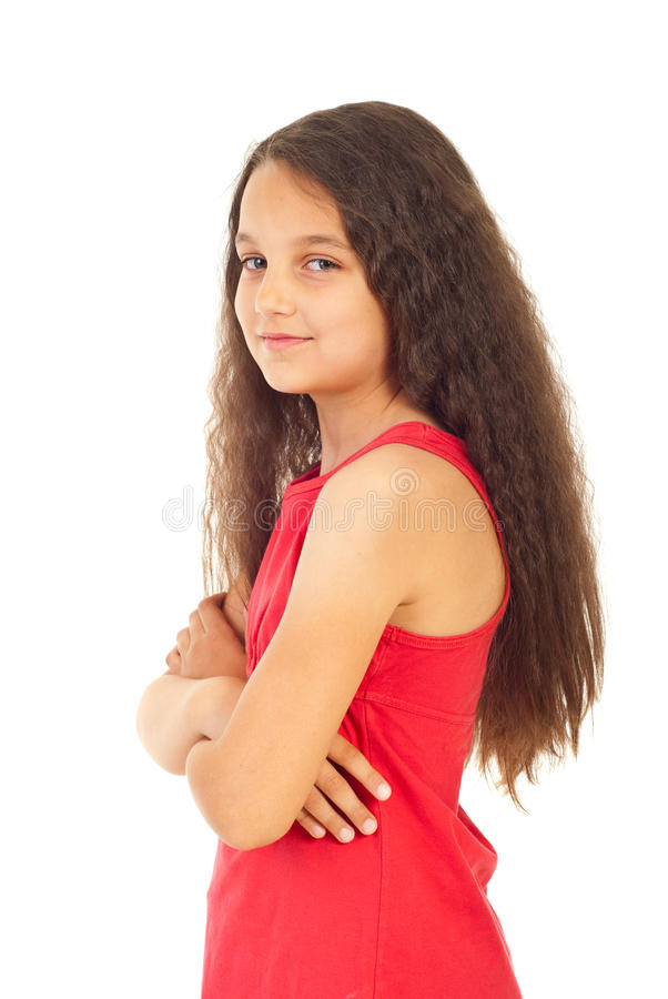 Download Girl With Arms Folded In Semi Profile Royalty Free Stock Photos - Image: 19999628