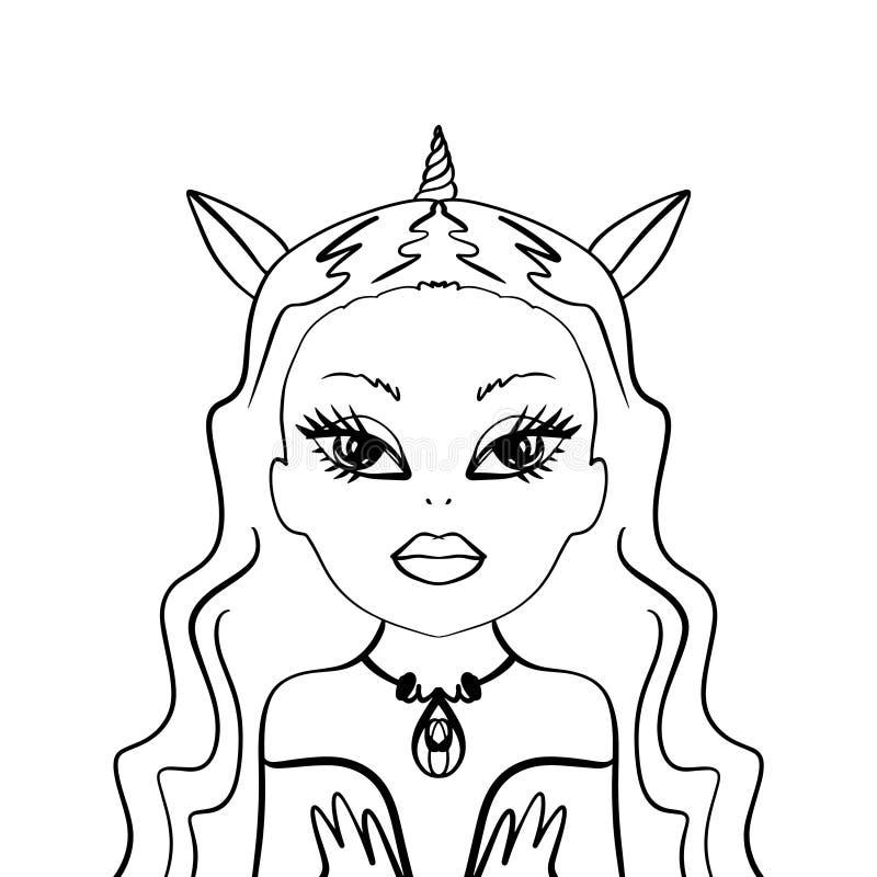 Creepy Cartoon Girl Stock Vector Illustration Of Girl