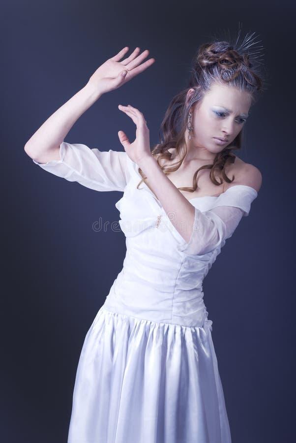 Girl with art make-up stock image