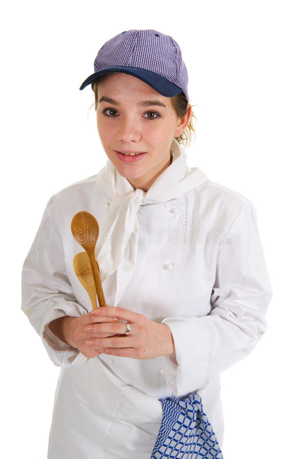 Download Girl as cook stock photo. Image of food, costume, standing - 18567968