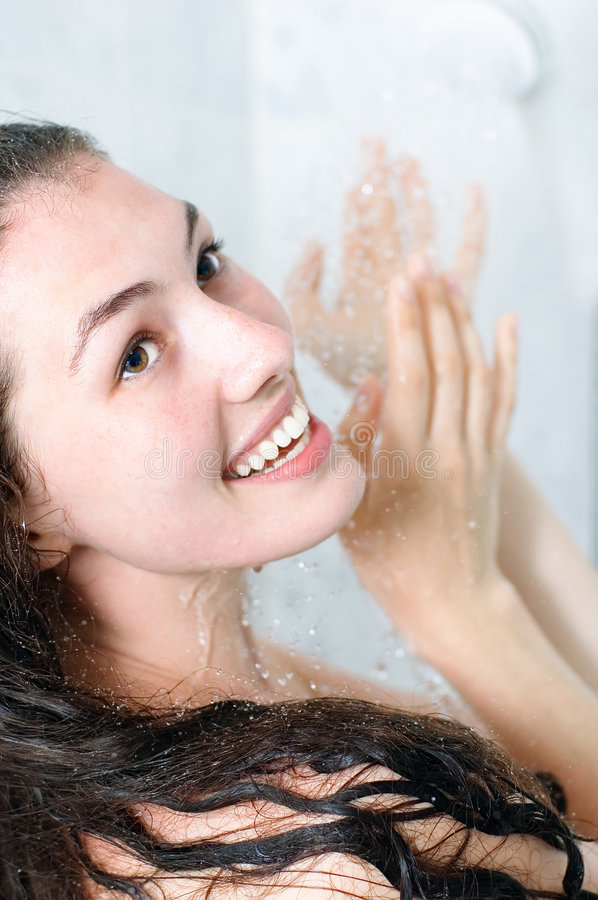 Free Girl At The Shower Royalty Free Stock Photography - 2830467