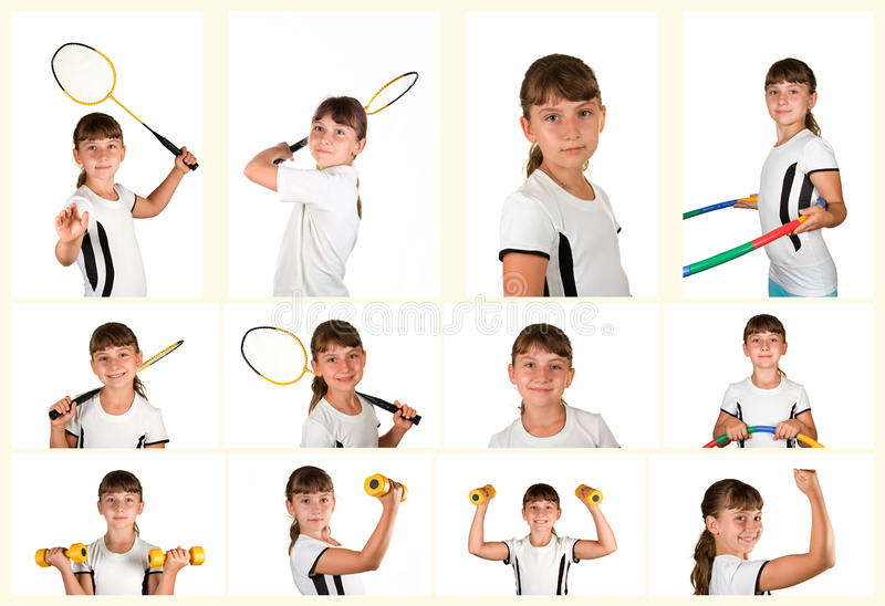 Girl athlete stock photo