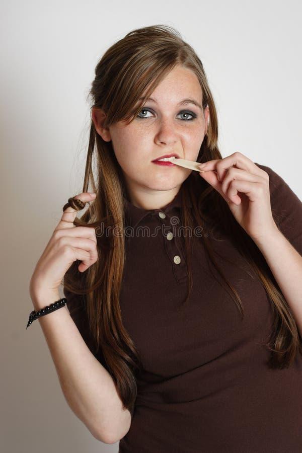 Girl with attitude stock photos