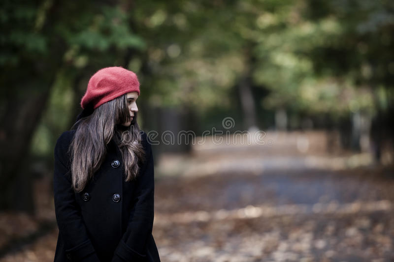 Girl in autum royalty free stock images