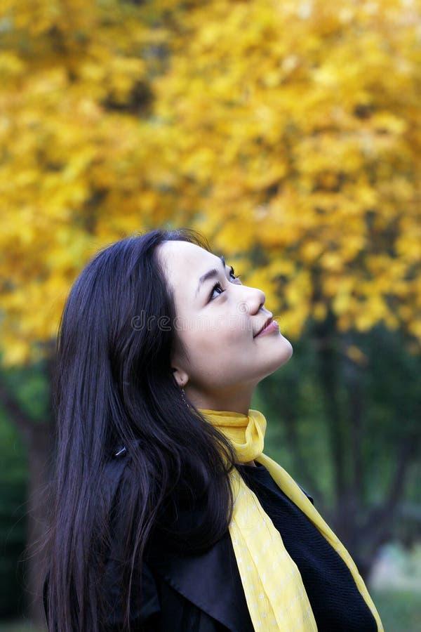 Download Girl autumn stock photo. Image of facial, hands, face - 6732828