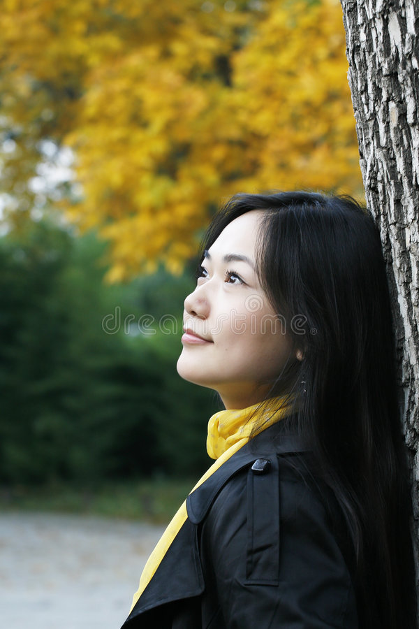 Download Girl autumn stock image. Image of looking, autumnal, outdoors - 6733031