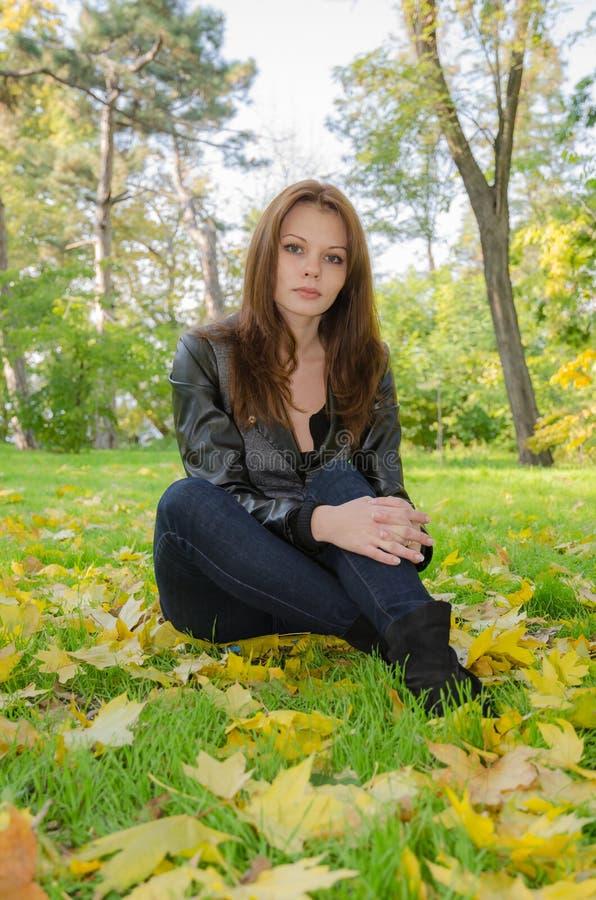 The girl - autumn. stock photo