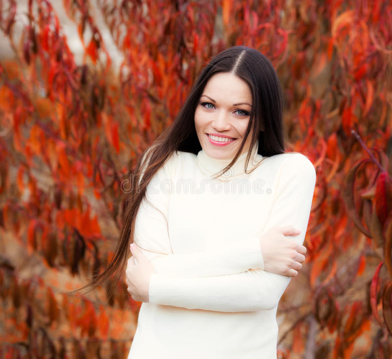 Download Girl In Autumn Garden Stock Images - Image: 31881164