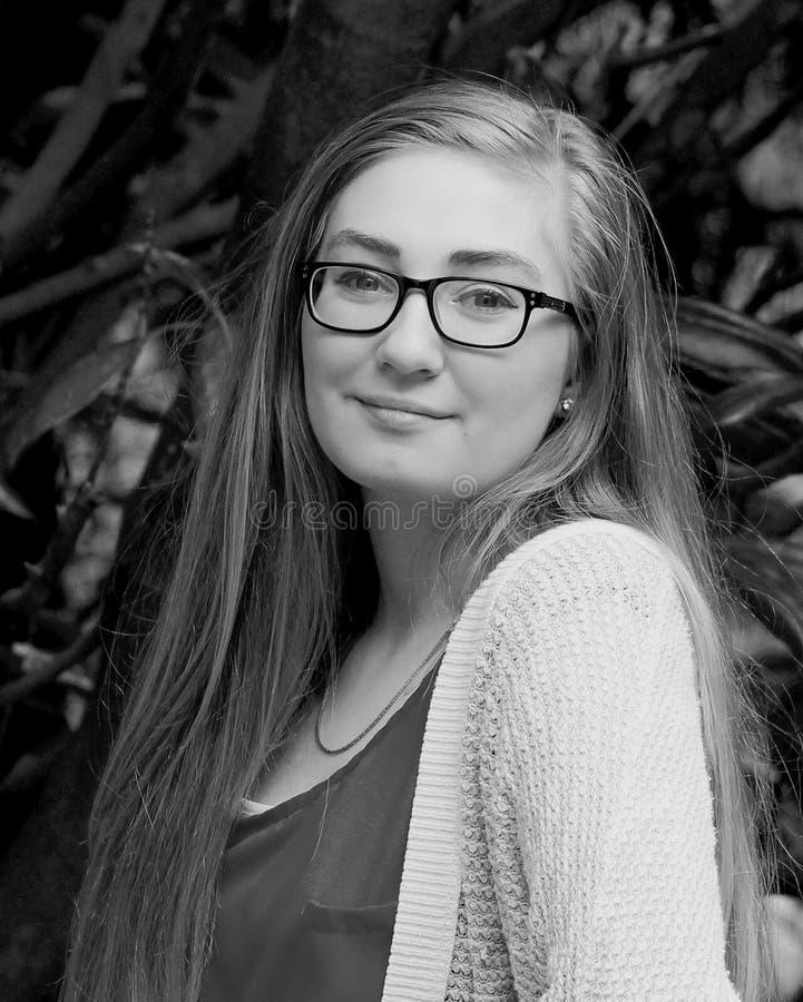 Girl-B/W teenager fotografia stock libera da diritti