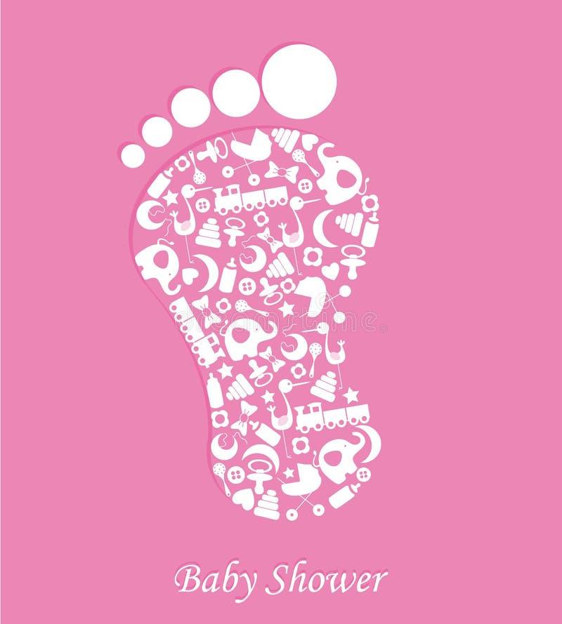 Girl Baby shower vector illustration