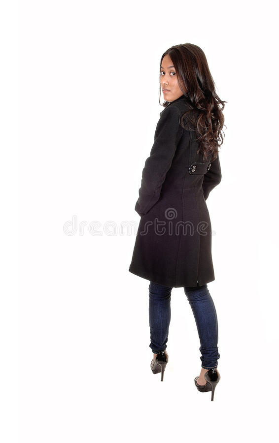 Download Girl from the back. stock photo. Image of natural, rear - 21997668