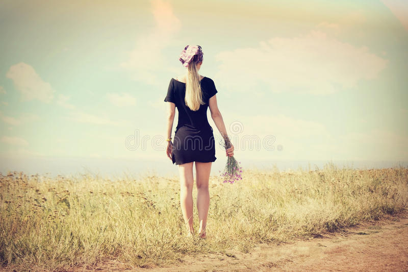 girl back instagram stock image image of summer beach