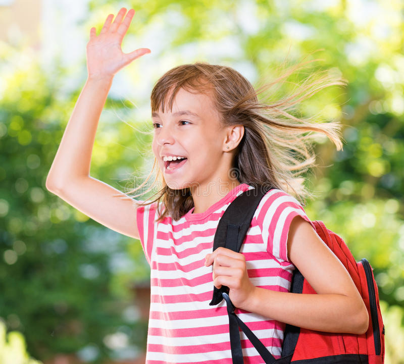 Free Girl Back To School Stock Photography - 73785592