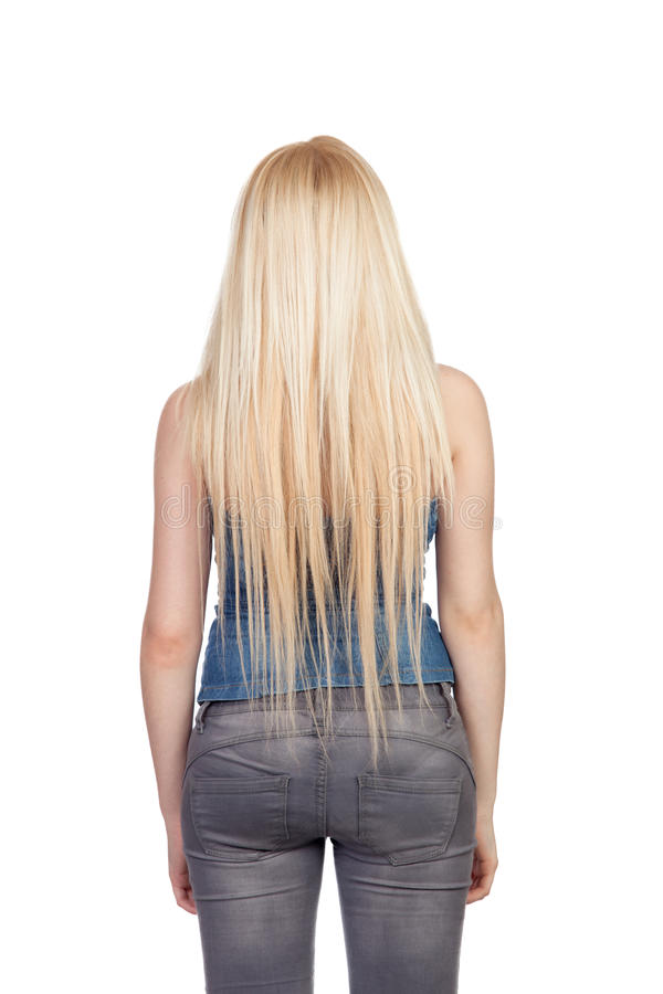 Free Girl Back With Long Hair Stock Image - 31714801