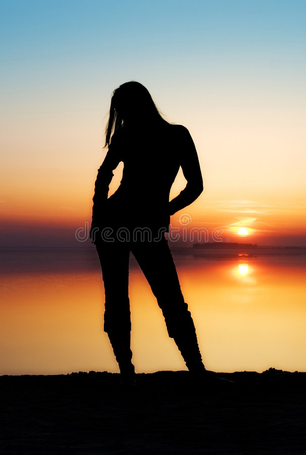 Download The Girl On A Background Stock Photo - Image: 2304570