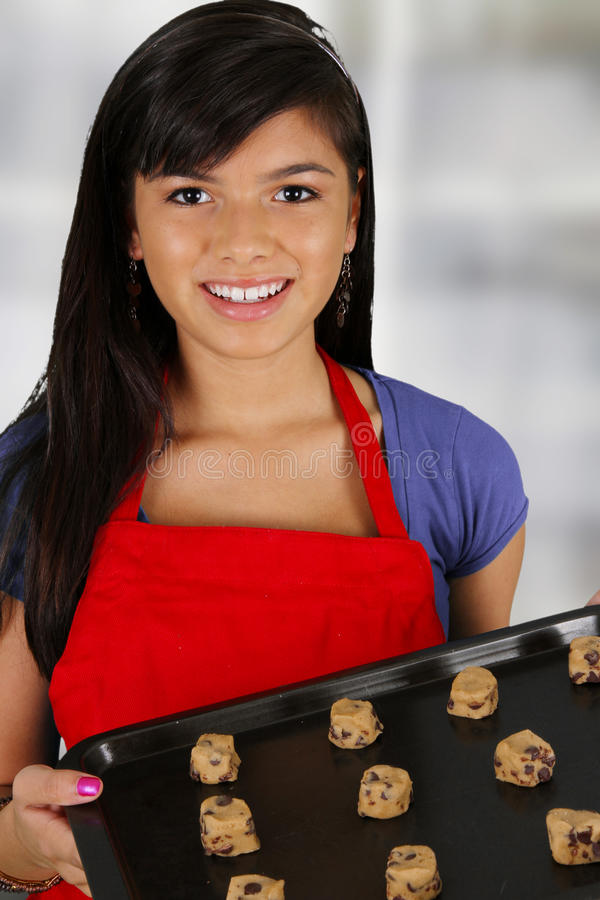 Download Girl Baking Cookies stock photo. Image of cooking, woman - 25753794