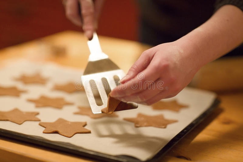 Make Gingerbread Stars royalty free stock photos