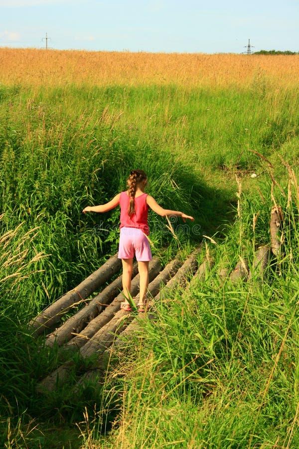 Download Girl balancing stock photo. Image of grass, nature, skies - 11068624