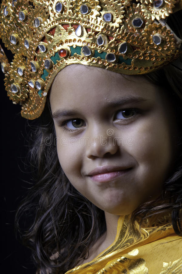 Girl In Balinese Costume Royalty Free Stock Photography