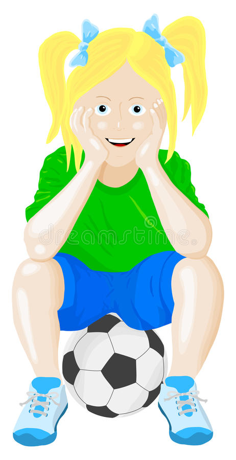 Download Girl on ball stock vector. Image of leisure, training - 29478540