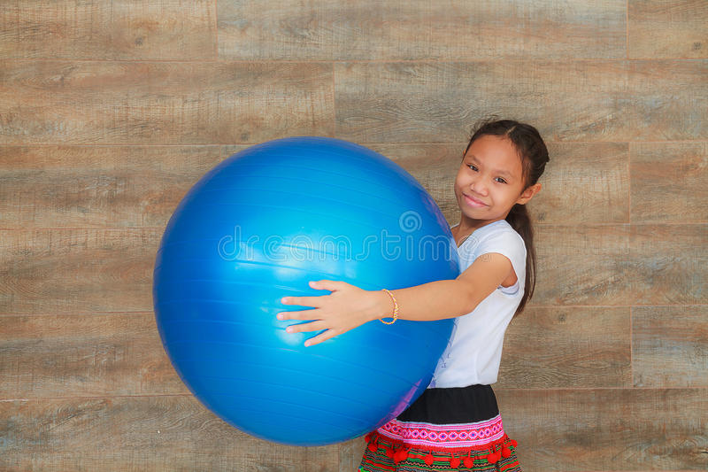 Girl and ball royalty free stock image
