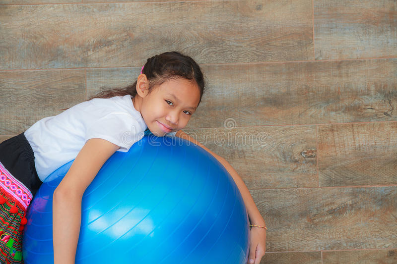 Girl and ball royalty free stock photo