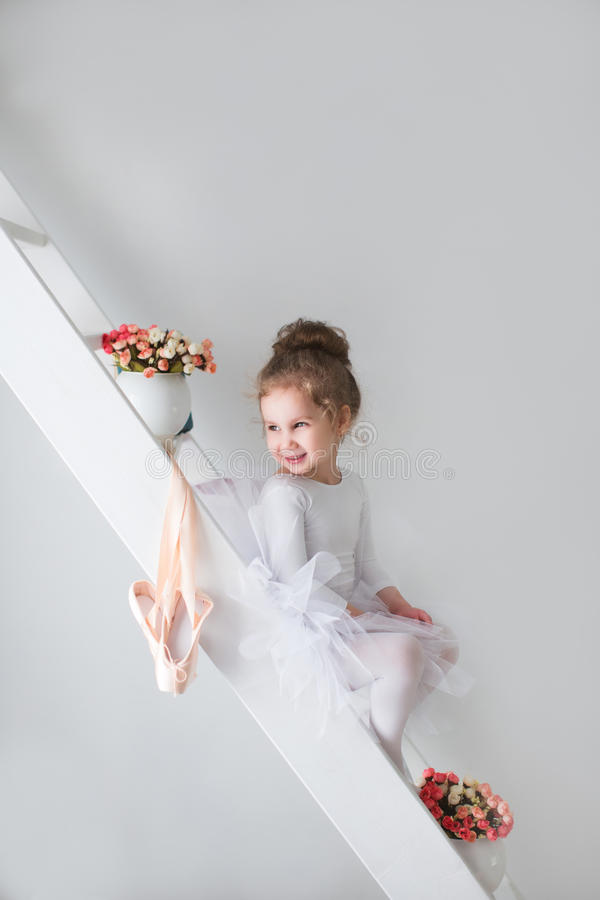 Girl and ballet shoes. Ballet. royalty free stock images