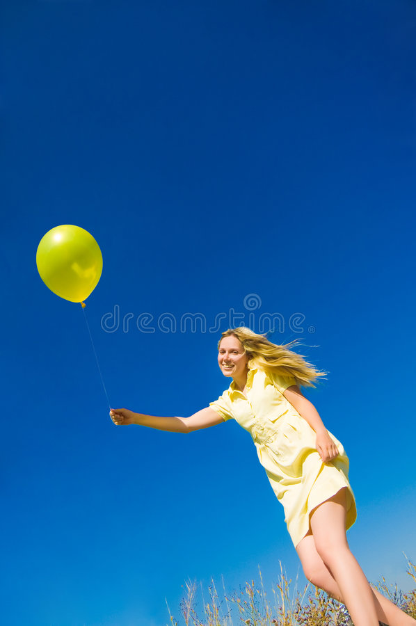 Download Girl With Balloon Royalty Free Stock Photo - Image: 6396555