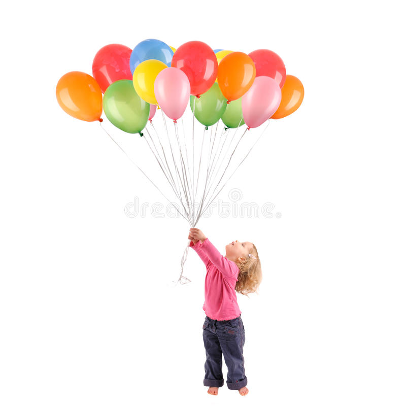 Download Girl with balloons stock image. Image of laughing, background - 15094409