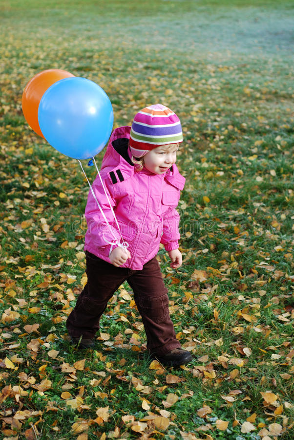 Download Girl with balloons stock image. Image of girl, girls - 22782797