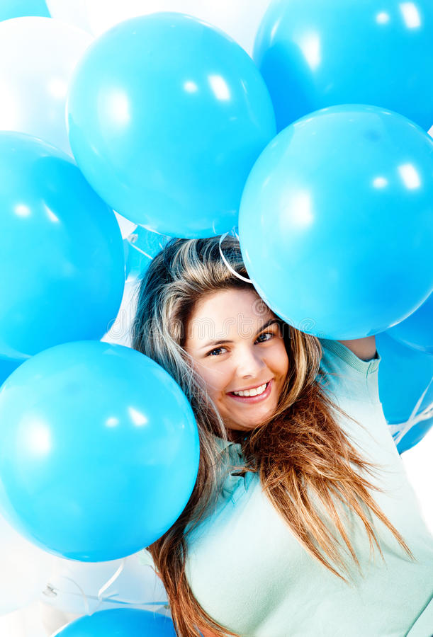 Download Girl with balloons stock image. Image of cute, young - 24706287