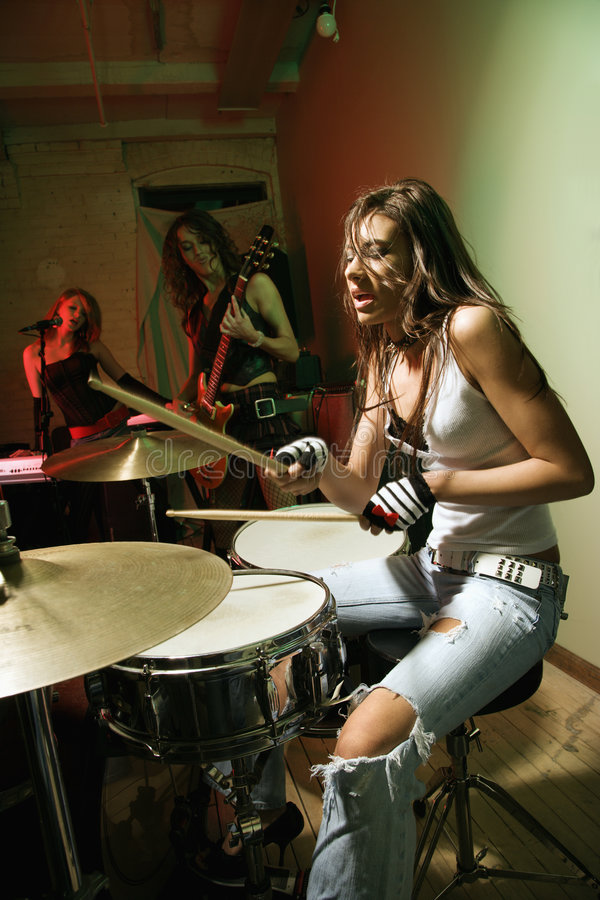 Girl Band. Royalty Free Stock Images