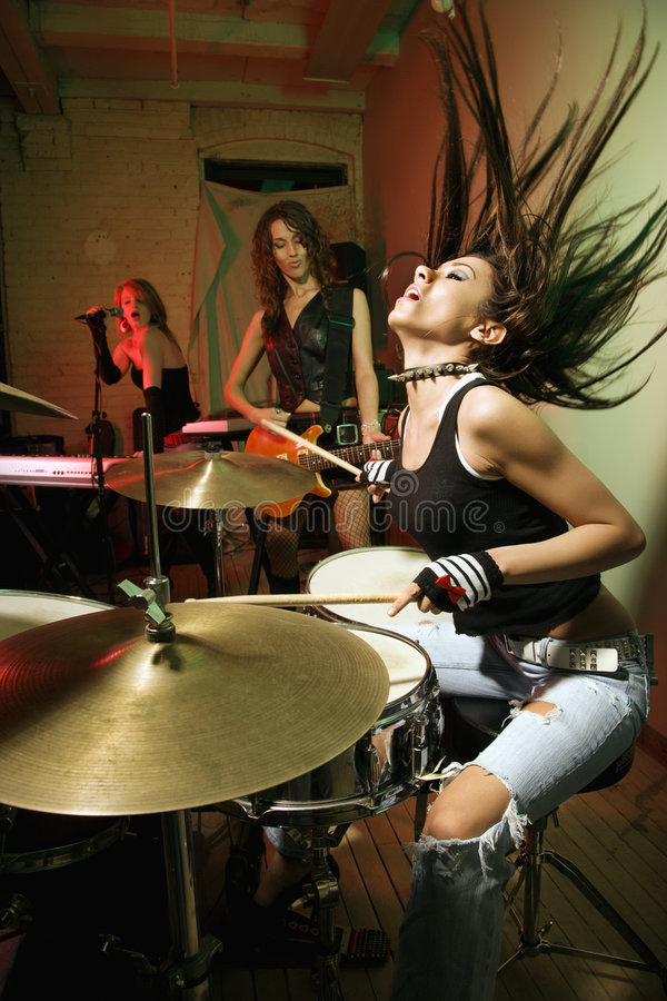 Download Girl band. stock image. Image of sing, female, musician - 2768831