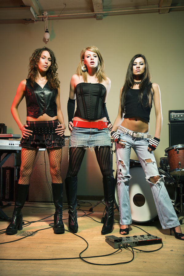 Girl Band. Stock Images