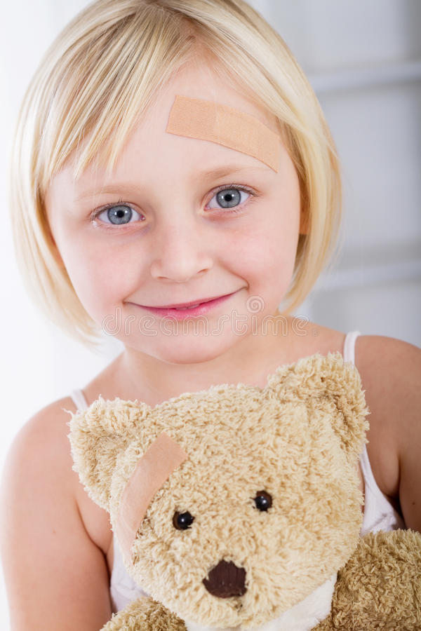 Download Girl with band-aid stock photo. Image of accident, blond - 15997958