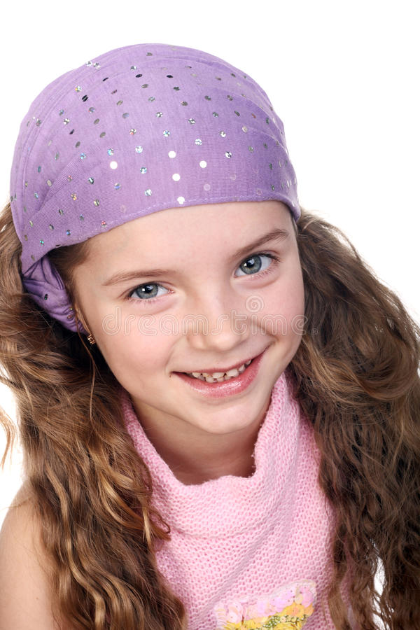Girl In Bandana Stock Photo