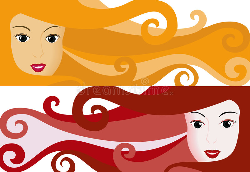 Girl Banner stock photography