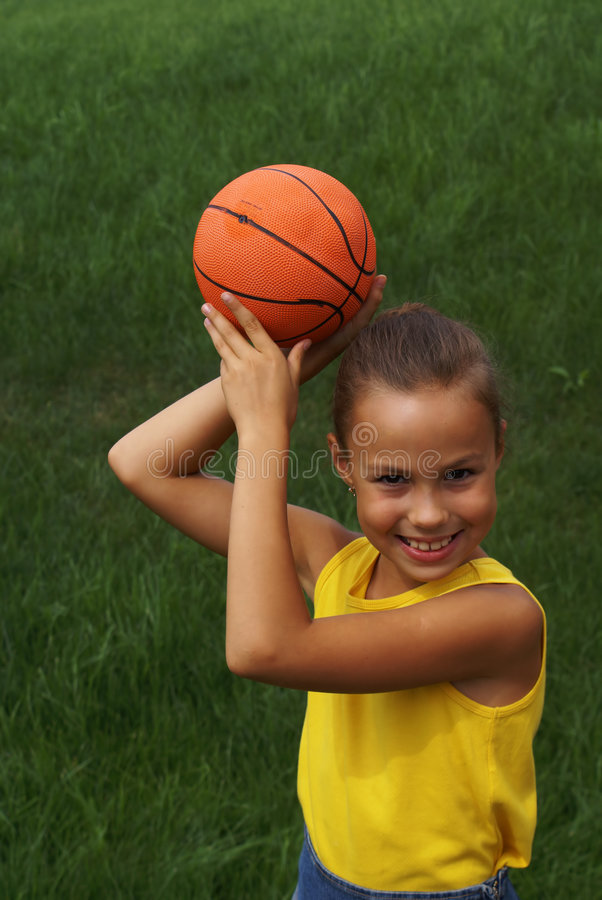 Download Girl with basketball stock photo. Image of free, autumn - 3057270