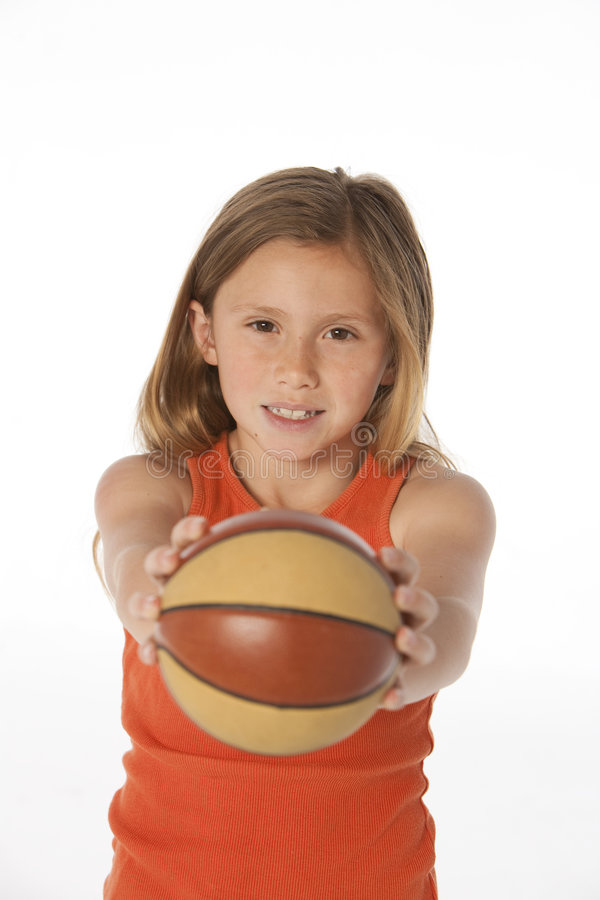 Download Girl with basketball stock image. Image of lovely, health - 9352645