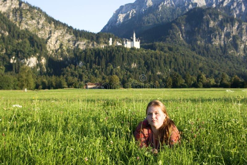 Girl in Bavaria, Germany royalty free stock photo