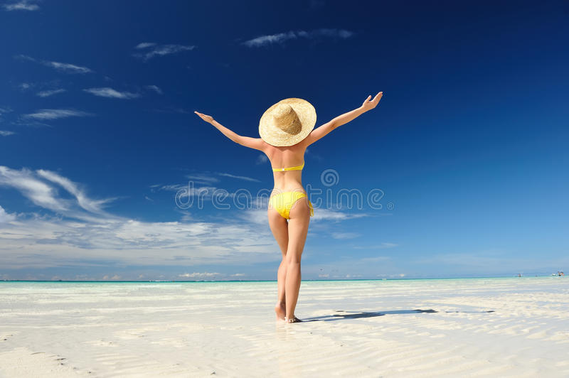 Download Girl on a beach stock image. Image of beach, philippines - 19000461