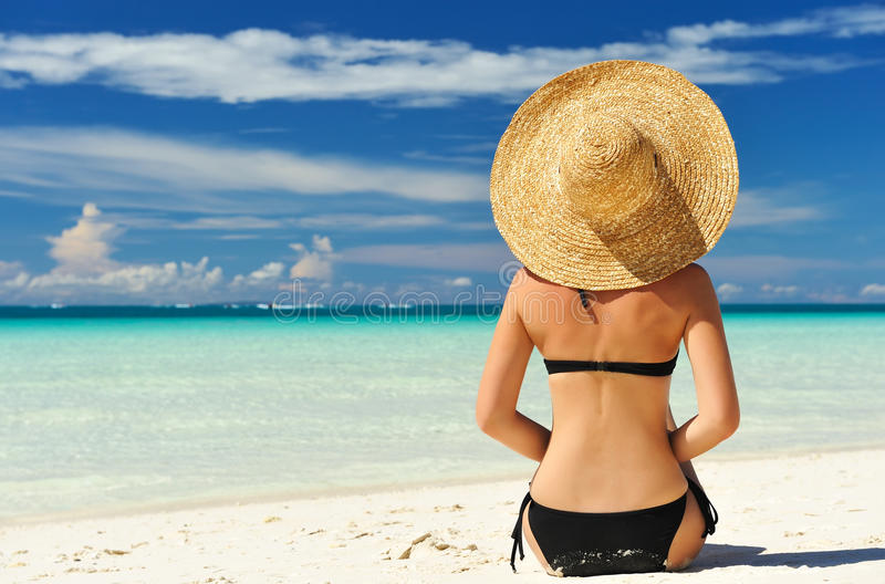 Download Girl on a beach stock image. Image of idyllic, relaxation - 19000465
