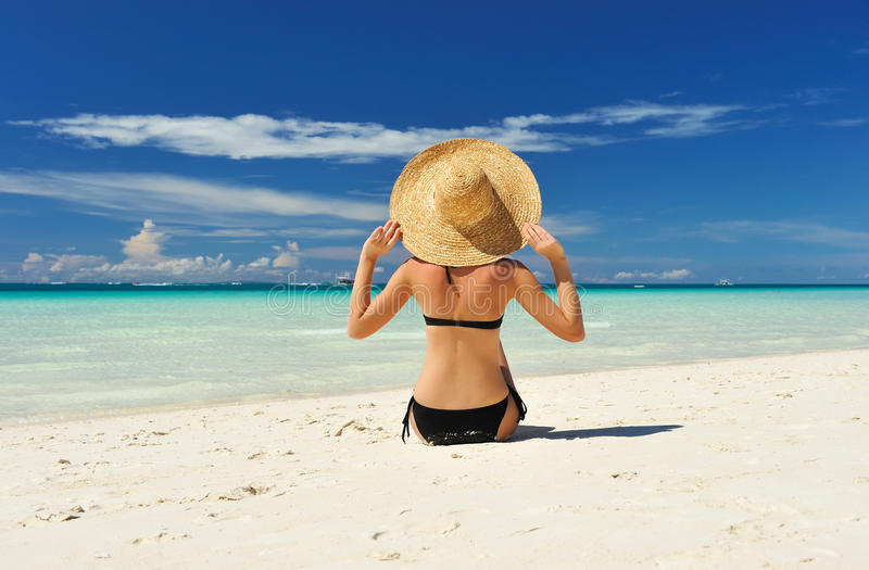 Download Girl on a beach stock image. Image of recreational, girl - 19000467