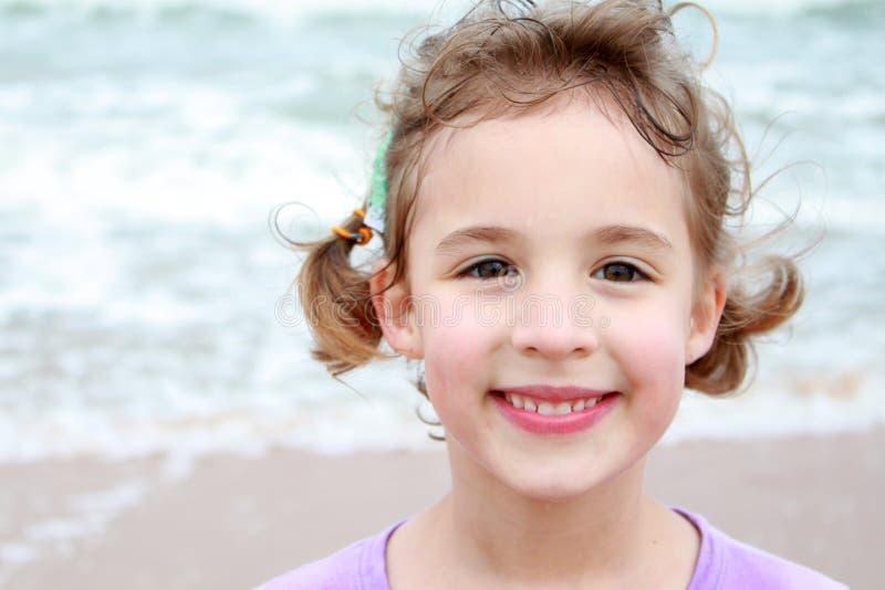 Girl at Beach royalty free stock image